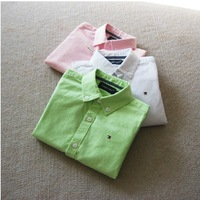 BT4007   free shipping Kids boys  cotton quality pure color  long sleeve shirt ,children  white shirt