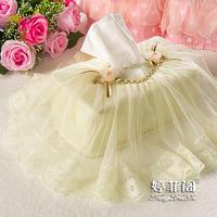 Calendula towel sets fabric tissue cover lace tissue box fashion