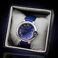 2014 New Women Dress Watch Genuine Leather Strap Blue Balloon Watch Navy Blue Elegant The Extraordinary Business Men's Watches