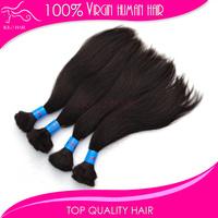 Silky straight indian hair bulk human hair natural black 4pcs/lot 100% virgin raw indian hair unprocessed braid hair bulk