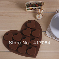 Silicone chocolate mold ice cube 10 lattices small heart silicone cake bakeware moulds wholesale