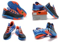 Free Shipping Hot Sale Kevin Durant KD 6 VI OKC Preheat Meteorology Men's Basketball Sport Footwear Sneakers Trainers Shoes