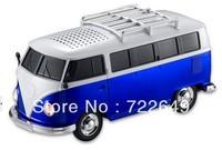 30pcs Big Bus portable mini music player speaker Support TF Card/USB/MP3 Mini Build-in Battery soundbox Free DHL Shipping