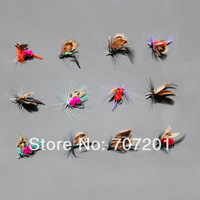 Dry Fly Butterfly Fishing Flies Trout Lures Bugs Colorful for Rod Reel Line 12pcs/1pack Free Shipping