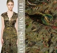 Cashew Printing New Fashion DIY Burn-Out Raw Silk Fabric