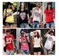 New 2013 Fashion T Shirt Butterfly Shirt Women Tops T-shirts MANY PATTERNS MIXED ORDER