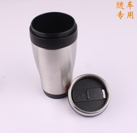 500ml convenient carrying stainless steel water bottle Tea bottles auto mug Single hand push safety Auto water bottle