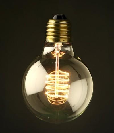 Light bulb special bulb personalized vintage silk decoration lamp light bulb g80 110v(China (Mainland))