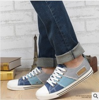 Hot sale 2014 new   LOW Style STAR chuck Classic Sneakers Men's/Women's Canvas Shoes patchwork   / artecasa