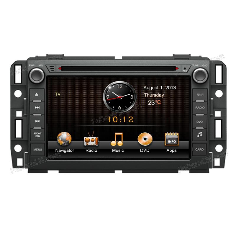 Double DIN Car Mulitmedia for Buick GMC Yukon dvd radio player with Ipod+USB+gps+bluetooth(China (Mainland))