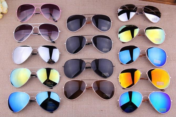 15 Colors Free Shipping 2013 Sale Brand Designer Blue Mirrored Sunglasses Men Silver Mirror Vintage Sunglasses Women Glasses Hot(China (Mainland))