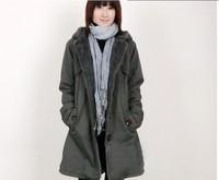 Autumn and winter female thickening fleece casual plus velvet sweatshirt cardigan twinset outerwear sportswear