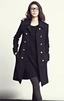 Autumn and winter wool cashmere outerwear women's medium-long wool coat