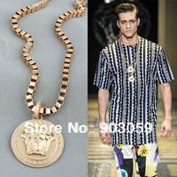 2014 new! Fashion Medusa Gold pendant necklace for women men necklacewholesale/retailer