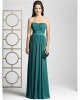 Free Shipping 2014  New Product Top Quality V-neck Chiffon Sample Photo  Homecoming Dresses