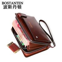 High Quality  brand men handbag 100% cowhide genuine leather Business man black coffee day clutch bag Free shipping
