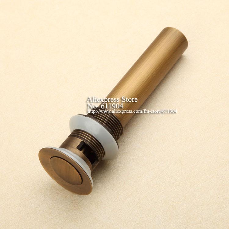 Antique Brass Bathroom Bath Sink Lavatory Lav Vessel Faucet Pop Up Drain With Overflow 3110011(China (Mainland))