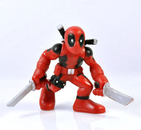 Free Shipping MARVEL SUPER HERO Squad DEADPOOL Red Ninja X-MEN ACTION FIGURE CHILD