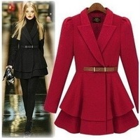 Big ! 2013 street style suit type lacing women's overcoat slim female  skirt