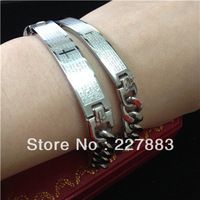 6 pair/lot cross stainless steel Jesus scriptures letter lovers bracelet fashion cool jewelery unisex pubk hiphop bangle