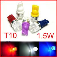Wholesale T10 1.5W High power W5W white T10 194 168 192 W5W super bright Auto led car led lighting wedge led auto lamp #ML