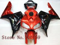 For Honda CBR1000RR 2006 2007 orange black  06 07 CBR1000RR CBR 1000 06 07 Injection Mold Fairing Set Plastic Kit 06