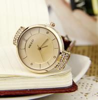 Kezzi New 2014 Fashion Quartz Women Dress Watches Princess Fresh Noble Girl Rhinestone Watch Leather Strap Business Watches