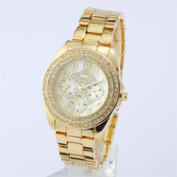 Luxurious Japan Movement Brand Quartz Watch Women Men Fashion Rhinestone Dress Wristwatch-8815liuzhengmian