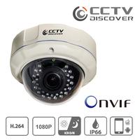 CCTV 1080P 2M  IP66 Onvif IP Dome Camera with  2.8-12mm lens