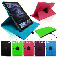 "Free Shiping 360 Rotating Leather Case Smart Cover Samsung Galaxy Note 10.1"" SM-P600 2014 Edition+screen protector stylus"