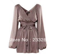 Q159 fashion womens long sleeve princess charming jumpsuits fashion clothing free shipping
