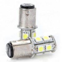20pcs/lot 1157 BAY15D 13 SMD LED 13smd 13led Pure White Tail Brake Turn Signal 13 LED Car Light Bulb Lamp V10 #k