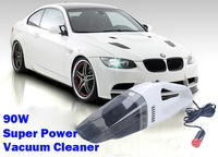 90W Super Suction Mini 12V High-Power Wet and Dry Portable Handheld Car Vacuum Cleaner Free Shipping