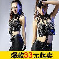 Wild fashion lady gaga female costume ds lead dancer clothing costumes 8299  h20