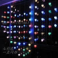 Window decoration decoration creative night light 2 meters love led curtain string of lights