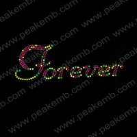 Wholesale 50Pcs/Lot Free Dhl Shipping Iron On Rhinestone Letter Crystal Appliques Custom Transfer Designs For Clothing
