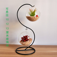 Fashion glass vase double layer glass ball hanging transparent glass vase decoration fashion home decor with hydroponic flower