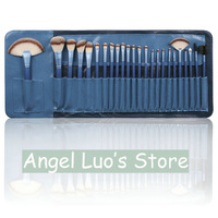 New 2014  Blue Synthetic hair 24Pcs Brand Cosmetics Makeup Brushes Professional  Tool Make up Brush Set for women