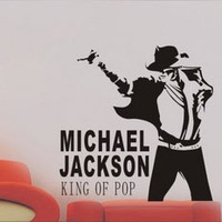 Michael Jackson 65*64cm sitting room wall stick TV background personality school music classroom wall stickers