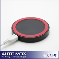 Qi Compatible Round Wireless Charger Pad Dock for Iphone HTC Samsung Galaxy S4 S3 Note 3 2 N7100 i9500 6 Colors