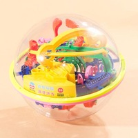 (927A)17cm Magic Intellect Ball Marble Puzzle Game Great Gift for Kids - 118 Steps