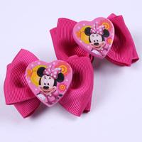 Fashion Cute Baby kid children girl Bow Minnie Mouse / Dora / Princess Barrettes  hairpin  hair accessory  9 Style  PAH-3060