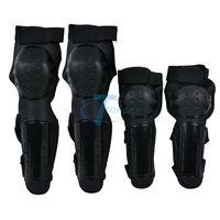 3Pcs/Lot Moto Racing Protective Gear Set Motorcycle Protection Shin Elbow Knee Pad Protector Body Guard Armour Black WTK0960#