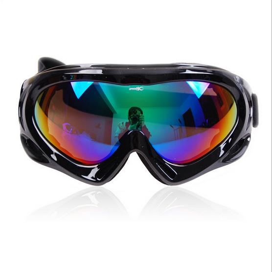 Fashion Rainbow Frame Dual Lens Anti-Fog Snow Ski Snowboard Goggles Color Lens Free shipping(China (Mainland))