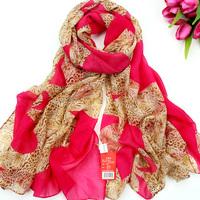 Scarf autumn and winter scarf muffler silk scarf cape long design faux silk scarf all-match dual fluid 2pcs/lot Free shipping