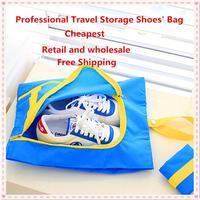 30 Pcs/lot Free Shipping New Portable Shoes Storage Bag  Travel Shoe Sneaker Storage Bags Pouch Organizer  62g 3 Colors