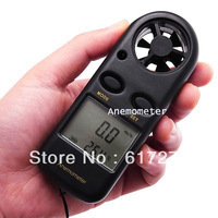 2014 Hot-Sales Portable Digital LCD display Wind Speed Measurement Gauge test Meter Sport Anemometer NTC Thermometer