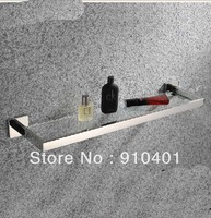 Free Shipping Wholesale And Retail Promotion NEW Wall Mounted Chrome Brass Square Bathroom Shower Caddy Cosmetic Glass Shelf