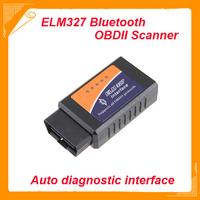 2014 New Black Big Bluetooth ELM327 V1.5 OBDII / OBD2 Auto Diagnostic Scanner Tool FREE SHIPPING