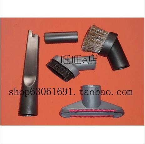 vacuum cleaner parts vacuum cleaner 5pcs set horse hair round brush/hose/connector/nozzle(China (Mainland))